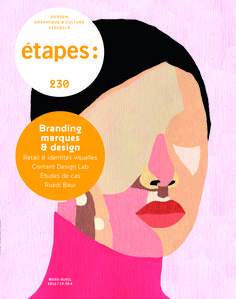 """""""étapes:"""" n°230 magazine cover (graphic design theme) (France)"""