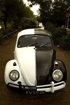 Monochrome VW Beetle. So much love <3