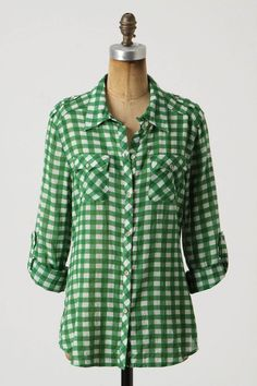 with dark denim or cut off shorts. I'm a sucker for a good plaid shirt. Hoping this goes on sale soon...