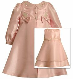 Bonnie Jean Girls 2T-4T Pink Floral Embroidered Shantung Dress/Coat Set (3T, Pink) Bonnie Jean,http://www.amazon.com/dp/B00G81SUIE/ref=cm_sw_r_pi_dp_z3rDsb01G1E9WZEA