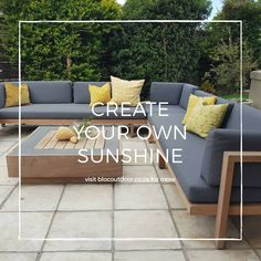 If you're staying at home during this challenging time - try to remain positive, keep comfortable and create your own sunshine ☀️ Featuring our popular Florida sofa.