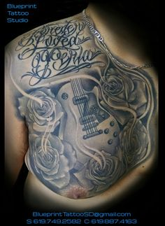 Check which tattoo suits you best. Filipino Tattoos, Polynesian Tattoos, Rip Tattoo, Guitar Tattoo, Chest Tattoo, Forever Love, Rose Tattoos, Black And Grey Tattoos, Tribal Tattoos