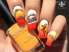 Australian Icons Stamping Nail Art - YouTube