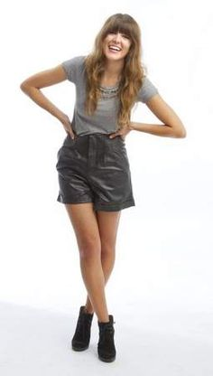 Take a dark spin on the trend with a pair of leather shorts. Leather shorts, $50 at Aimee, 426 E. Locust St.