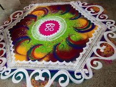 Sanskar Bharti Rangoli Designs, Rangoli Border Designs, Colorful Rangoli Designs, Rangoli Designs Images, Rangoli Designs Diwali, Diwali Rangoli, Simple Rangoli, Mehndi Designs, Beautiful Mehndi Design