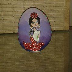 #detalles bailarina pintada en roca