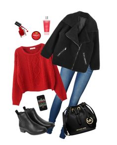 """Getting in a christmas mood"" by deserwina ❤ liked on Polyvore featuring Vero Moda, Chicnova Fashion, Monki, MICHAEL Michael Kors, LG, Bobbi Brown Cosmetics and Victoria's Secret"