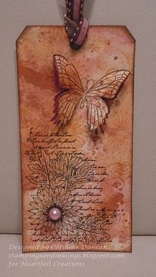 Heartfelt Creations | Butterfly Aster Tag