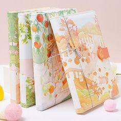 Cute Spiral Notebooks, Cute Notebooks, Cool School Supplies, Office Supplies, Kawaii Stationery, School Stationery, Student Diary, Diary Covers, Leather Diary