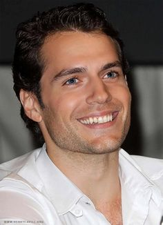 Henry Cavill. Oh, those eyes...
