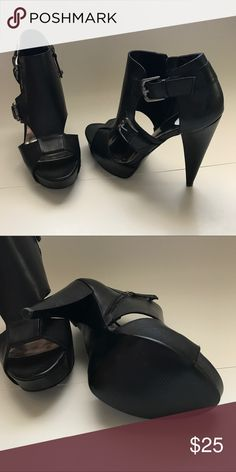 19e5e364c5fc Shop Women s Guess Black size 7 Heels at a discounted price at Poshmark. 5  inch heel with 1 inch platform. Zipper on inside of shoe.