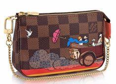 6131ee98efcf Louis Vuitton Mini Pochette Accessoires Evasion in Damier Ebene   Louisvuittonhandbags Cheap Purses