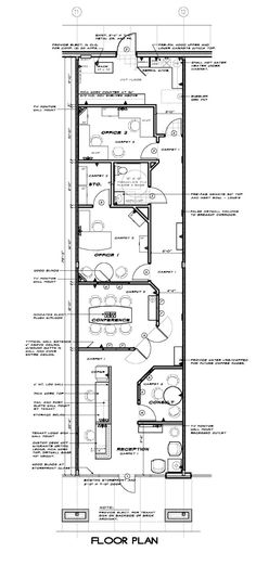 Office Furniture Floor Plan for a small office. #