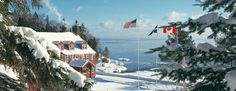 Lutsen Lodge - Engaged at the top of Moose Mountain at Lutsen while snowboarding