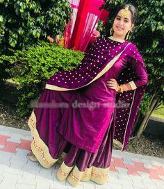 Punjabi look party Pakistani Wedding Outfits, Pakistani Dresses, Indian Dresses, Indian Outfits, Indian Clothes, Designer Party Wear Dresses, Kurti Designs Party Wear, Dress Designs, Designer Punjabi Suits