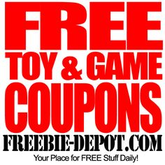 FREE Toy and Game Coupons