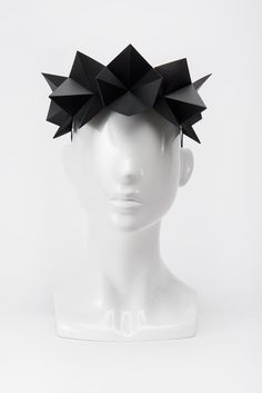 Black headpiece - Spring Racing Fashion 2015 Architectural collection. Ideal for Melbourne Cup Fashion / Derby Day Fashion / Spring Racing Carnival