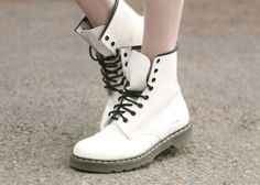 White Doc Martens. Lol I always wanted some!