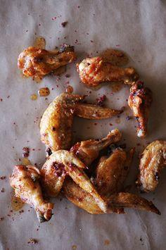 Pink Peppercorn & Honey-Glazed Chicken Wings