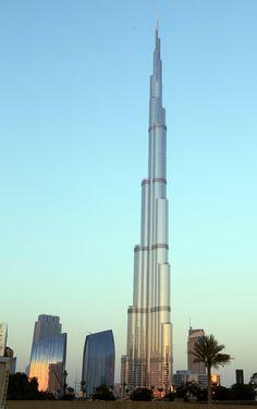 at the top: Burj Khalifa - Dubai, UAE