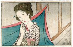 A Mosquito Net by Takehisa Yumeji / お光の亡霊より 蚊帳 竹久夢二