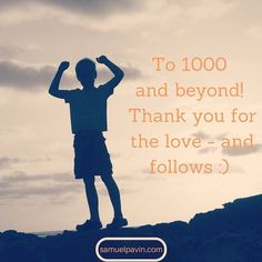 A great milestone thanks to you all 1000 #followers on #Instagram. On to 10k! :)