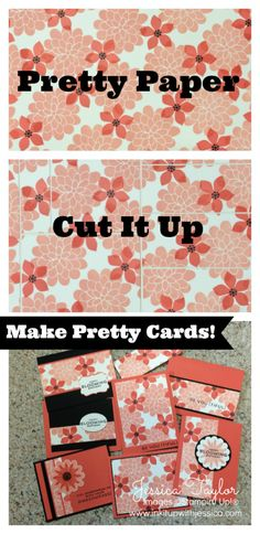 Stamp your own pretty paper to make One Sheet Wonder Cards! Pretty Cards, Cute Cards, One Sheet Wonder, Scrapbook Cards, Scrapbooking, Card Making Techniques, Card Tutorials, Card Sketches, Paper Cards