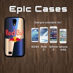 Samsung Galaxy S4 Galaxy S3 and Note 2 Iphone 4/4s Iphone 5 Red Bull - White or Black Hard Rubber Case Cover Protector Phone Case