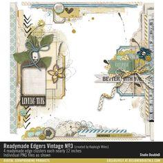 Readymade Edgers: Vintage No. 03 #scrapbook #clusters #digital #download #edgers #borders #design #designerdigitals #embellishments