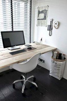 Simple home office decor ideas for men (11)