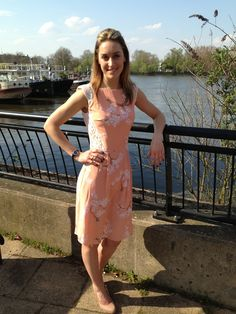 Olympic champion Amy Williams wears the Tabitha Webb for Fashion Targets Breast Cancer dress. - what a beautiful dress!
