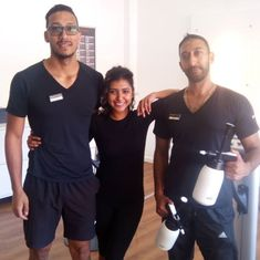 Carishma is rocking her Bodytec session with the City Bowl personal trainers Emile Riaz #bodytecsa #bodytec #mihabodytec #ems #emstraining #bodygoals #fitgoals #fitness #fitnessgoals #getfit #training #train #workout #health #healthylifestyle #sport #fit #personaltrainer #coach #team #motivation #inspiration #strenghttraining #muscle #fitnessmotivation Team Motivation, Motivation Inspiration, Strenght Training, Fitness Goals, Personal Trainer, Ems, Trainers, Healthy Lifestyle, Muscle