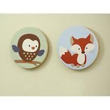 Round Canvas Animal Prints