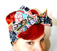 I just love this!  Bow hair tie Star Wars Comic Book Covers Darth by OhHoneyHush