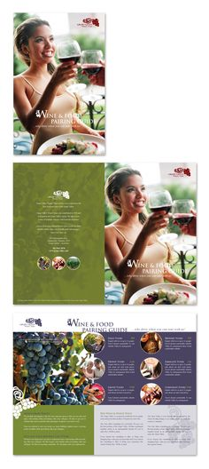 Vineyard & Winery Tour Brochure Template http://www.dlayouts.com/template/193/vineyard-winery-tour-brochure-template