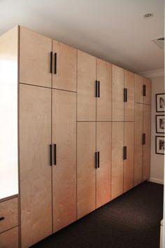 46 Ideas plywood furniture wardrobe storage for 2019 Alcove Wardrobe, Wardrobe Design Bedroom, Wardrobe Storage, Wardrobe Doors, Built In Wardrobe, Bedroom Storage, Bedroom Cupboard Doors, Bedroom Cupboard Designs, Bedroom Cupboards