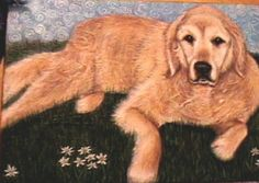 Goldie Simone Manley @Simbotic Paintings, Dogs, Fun, Animals, Animales, Paint, Animaux, Painting Art, Pet Dogs
