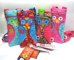 Owl Epi-Pen / Medicine Pack / Epi-Pen Case / Purse by lovebugsco