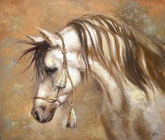 Original Horse Painting  Textured Palette Knife Oil by spirosart, $210.00