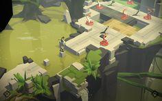 SE旗下《古墓丽影》衍生了一款冒险益智手游《劳拉快跑 Lara Croft GO》,画面风格比较有趣