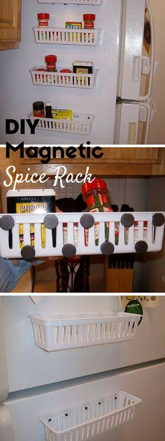 Check out the tutorial: #DIY Magnetic Spice Rack #crafts