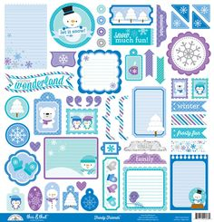 Doodlebug Design - Frosty Friends Collection - Christmas - 12 x 12 Cardstock Stickers - This and That at Scrapbook.com