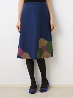 フラワー型パッチワークウールスカート | Jocomomola de Sybilla(ホコモモラ デ シビラ)|【公式】イトキンファッション通販サイト