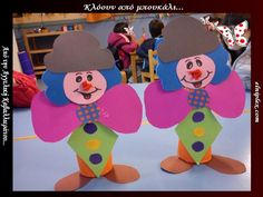 Crafts,Actvities and Worksheets for Preschool,Toddler and Kindergarten.Lots of worksheets and coloring pages. Carnival Theme Crafts, Circus Theme, Cardboard Tube Crafts, Clown Crafts, Crafts For Kids, Arts And Crafts, School Themes, Toilet Paper Roll, Free Printables