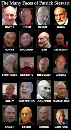 The Many Faces of Patrick Stewart