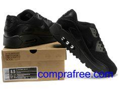 Comprar barato hombre Nike Air Max Zapatillas (color:negro) en linea en Espana. Nike Air Max, Air Max 90, Nike Heels, Sneakers Nike, Zapatillas Nike Air, Nike Pants, Color Negra, Nike Huarache, Shoes