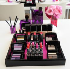 a tray of beautiful color from Avon