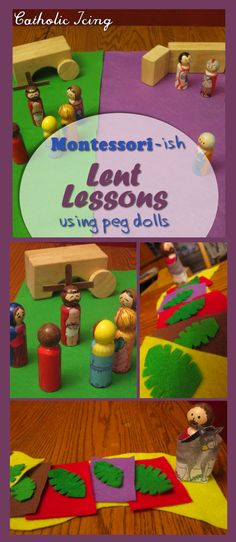 Check out these Montessori lessons for kids during Lent and Holy Week! There is an awesome lesson here about Palm Sunday, and the Passion with tons of resources and ideas for getting started. Catholic Icing, Catholic Lent, Catholic Crafts, Church Crafts, Montessori, Easter Crafts, Crafts For Kids, Godly Play, Easter Story