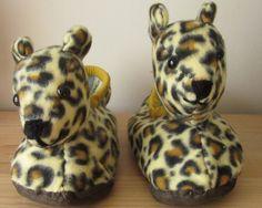 Leopard Head SlippersKids UnisexAged 3 UPMedium by COLDHAMCUDDLIES