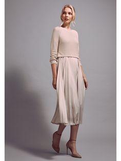 Weekend Max Mara Zucca Knit Skirt Combo Dress - Sand X-Large Combo Dress, Professional Outfits, Knit Skirt, Knitwear, Autumn Fashion, White Dress, Summer Dresses, Clothes For Women, Max Mara